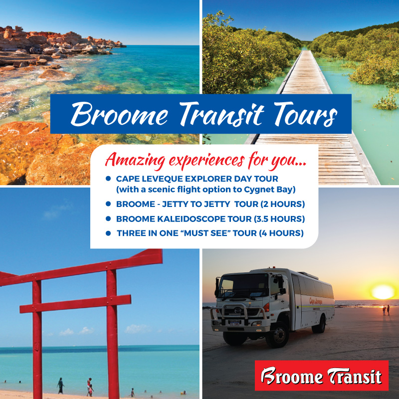 Broome Transit Tours Special deal